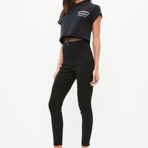 Misguided High Waisted Black Jeans, Sz 2&4 NWT!